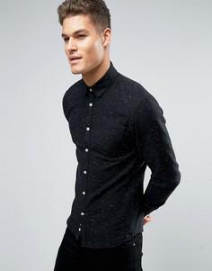 Рубашка классического кроя в крапинку с длинными рукавами Celio - Черный