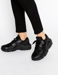 Черные кроссовки для бега Nike Air Huarache - Черный
