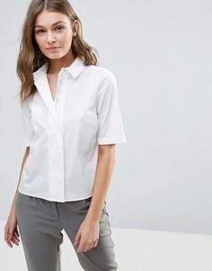 Укороченная рубашка Selected Kenta - Белый
