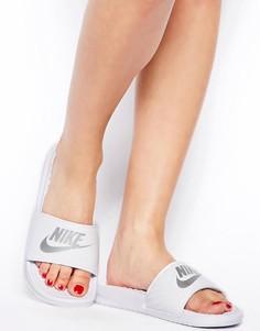 Белые шлепанцы Nike Benassi JDI - Белый
