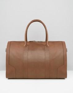 Кожаная сумка шоколадного цвета ASOS - Коричневый