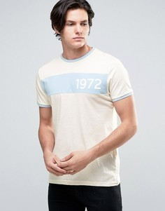 Меланжевая футболка с принтом в стиле ретро Brave Soul - Синий