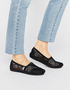 Ажурные туфли TOMS Morocco - Черный