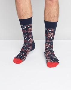 Носки с фейерверком Happy Socks - Синий