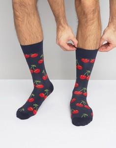 Носки с вишнями Happy Socks - Синий