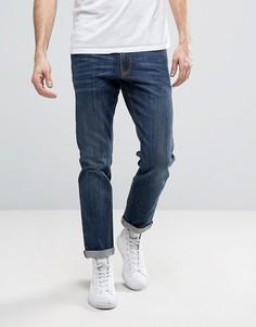 Темно-синие эластичные джинсы слим ASOS - Синий
