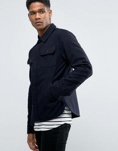 Куртка в стиле милитари с добавлением шерсти Celio - Темно-синий