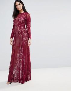 Кружевное платье макси The Jetset Diaries Yasmine - Красный