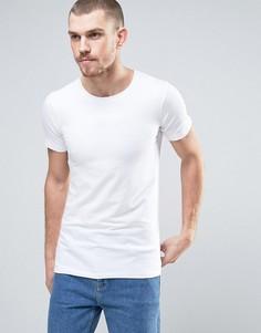 Белая эластичная хлопковая футболка Lindbergh - Белый