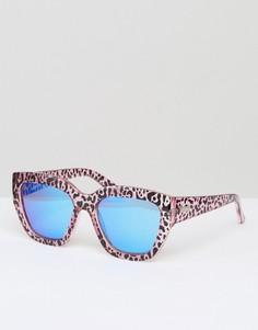 Солнцезащитные очки с гепардовым принтом Le Specs - Коричневый