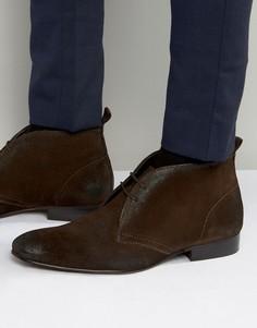 Замшевые ботинки чукка Base London Trader - Коричневый