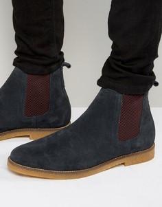 Замшевые ботинки челси Base London Ferdinand - Темно-синий