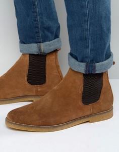 Замшевые ботинки челси Base London Ferdinand - Рыжий