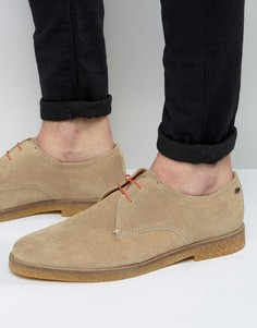 Замшевые туфли дерби Base London Whitlock - Бежевый