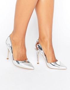 Туфли-лодочки с контрастной отделкой Miss KG Caitlyn - Серебряный