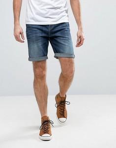 Узкие джинсовые шорты стретч из темно-синего денима плотностью 12,5 унции ASOS - Синий