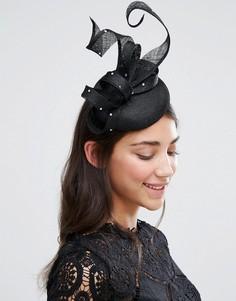 Ободок с вуалеткой и стразами Boardmans - Черный Elegance