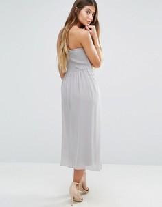 Платье-бандо миди Vila - Кремовый