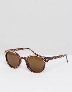 Солнцезащитные очки в черепаховой оправе AJ Morgan Tamara - Коричневый