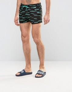 Шорты для плавания с принтом Boardies Shortie - Черный