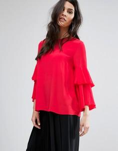 Блузка с пуговицами на спине Y.A.S - Красный