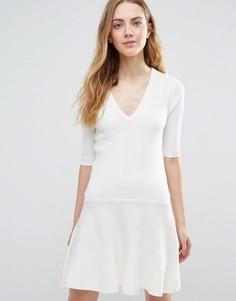 Белое платье мини Ganni Williams Classic - Белый