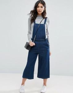 Укороченный джинсовый комбинезон Vero Moda - Синий