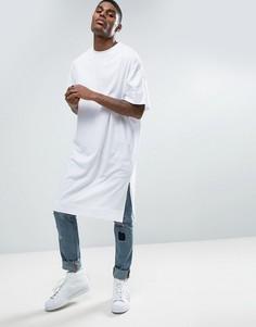 Белая супердлинная oversize‑футболка ASOS - Белый
