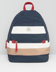 Нейлоновый рюкзак в полоску Tommy Hilfiger Modern - Мульти