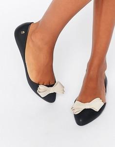 Туфли с бантиком на плоской подошве Melissa Trippy - Черный