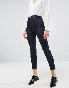 Синие джинсы слим с завышенной талией ASOS FARLEIGH - Синий