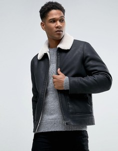 Куртка из искусственной кожи на подкладке из искусственного меха Celio - Черный