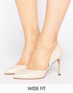 Телесные туфли-лодочки для широкой стопы Lost Ink Wide Fit - Бежевый