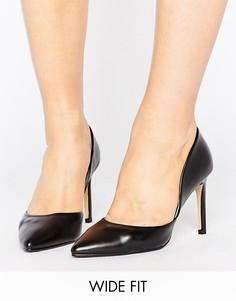 Черные туфли-лодочки для широкой стопы Lost Ink Wide Fit - Черный