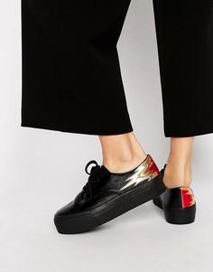 Кроссовки на шнуровке ASOS DREAMY Flame - Черный