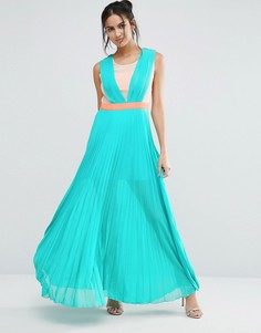 Плиссированное платье макси Jovanna Neontown - Зеленый Jovonna