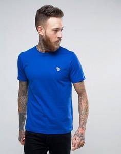 Синяя узкая футболка с логотипом-зеброй PS by Paul Smith - Синий