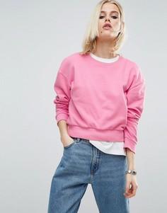 Укороченный oversize-свитшот ASOS - Розовый