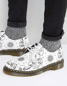 Туфли с бандановым принтом и 3 парами люверсов Dr Martens 1461 - Белый