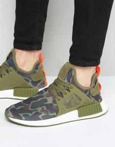Зеленые кроссовки adidas Originals NMD_XR1 BA7232 - Зеленый