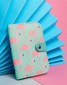 Обложка для паспорта с фламинго Sass & Belle - Мульти