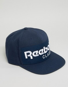 Классическая темно-синяя кепка Reebok Foundation AO0039 - Темно-синий