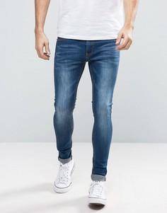 Облегающие джинсы Liquor & Poker - Синий