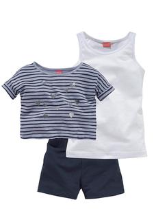 Комплект: футболка + топ + шорты KIDOKI