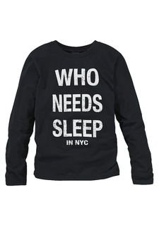 "Футболка с длинными рукавами ""WHO NEEDS SLEEP"" Arizona"
