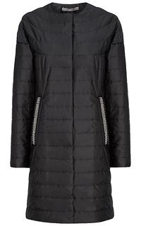 Утепленное пальто с декором Elema