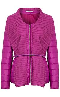 Утепленная комбинированная куртка Elema