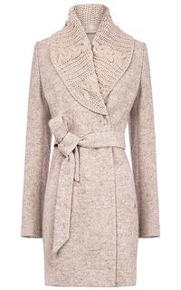 Женское пальто с трикотажной отделкой Elema