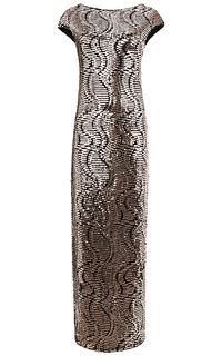 платье макси с декором из пайеток La Reine Blanche