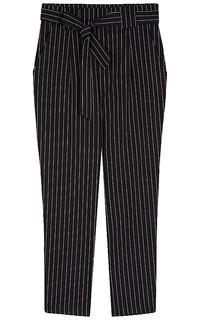 брюки в полоску с поясом La Reine Blanche